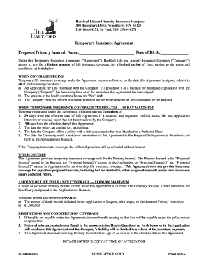 Edit print fill out download online business forms in word pdf temporary insurance agreement proposed primary platinumwayz