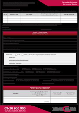 Fillable Online Perbankan Komersial Commercial Banking Borang Permohonan Pembiayaan Financing Application Form Kepada To Bank Islam Malaysia Berhad Kami Ingin Memohon Pembiayaan Perniagaan Dari Bank Islam Malaysia Berhad Seperti Berikut