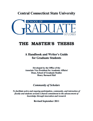 Master thesis rules