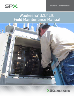 Waukesha UZD LTC Field Maintenance Manual