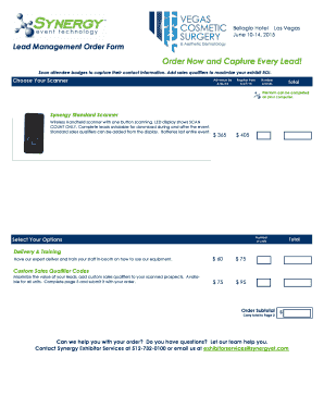 Custom order form template free - Sample Business Forms in