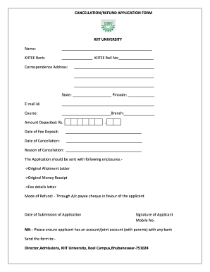 Kiit form edit fill online printable fillable blank pdffiller preview of sample refund policy of kiit university spiritdancerdesigns Images