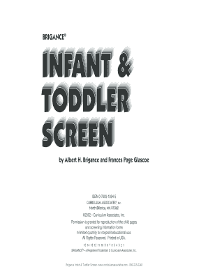 brigance infant and toddler screen pdf