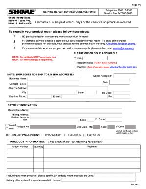 Fdrm Shure - Fill Online, Printable, Fillable, Blank   PDFfiller
