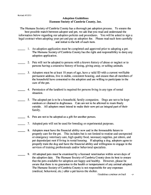 pet adoption contract legal fill print download online samples