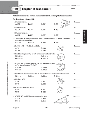 Resource Master Answers Geometry Chapter 10 - Fill Online ...