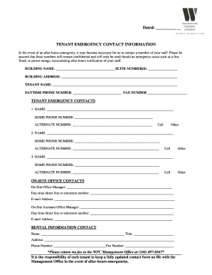 graphic relating to Printable Emergency Contact Form called 50 Printable Crisis Get hold of Kind Templates - Fillable