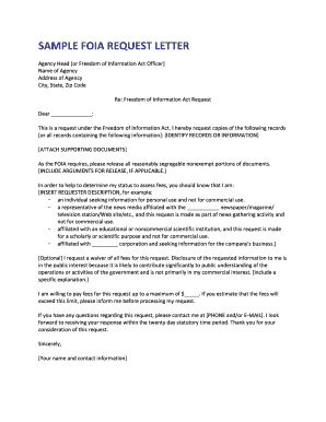 SAMPLE FOIA REQUEST LETTER - National Security...