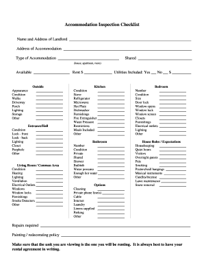 apartment inspection checklist for landlord editable. Black Bedroom Furniture Sets. Home Design Ideas