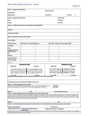 Dental Billing Form - Fill Online, Printable, Fillable, Blank ...
