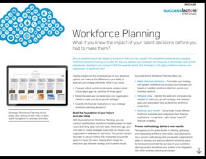 Fillable Online SuccessFactors Workforce Planning Brochure