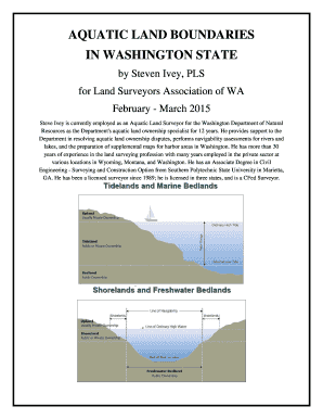 Fillable Online lsaw Aquatic Land Boundaries in Washington