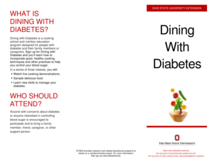 A copy of the Dining with Diabetes Brochure - OSU Extension bb