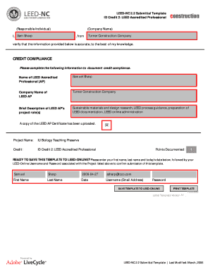 Printable Leed Submittal Template Fill Out Download Top Rental