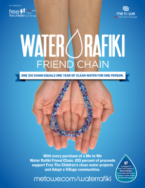 13d519391a6 Fillable Online With every purchase of a Me to We Water Rafiki Friend Chain  100 bb Fax Email Print - PDFfiller