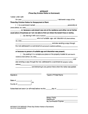 Eviction Notice Template Forms - Fillable & Printable Samples for ...