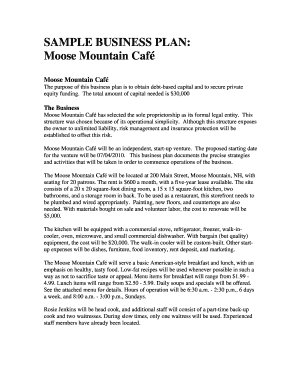 weaknesses of rosie jenkins of moose mountain cafe form