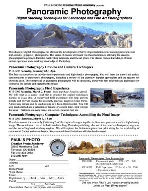 Landscape Photography Techniques Pdf Fill Online Printable