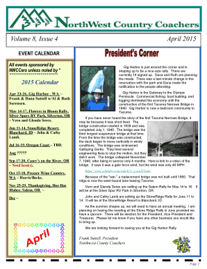 April 2015 Newsletter Posted - Fmcanworg - fmcanw