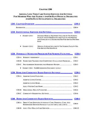 Fillable Online azahcccs ALTCS Policy Manual - Arizona Health Care ...