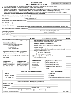 Birth Certificate Template Forms - Fillable & Printable Samples ...