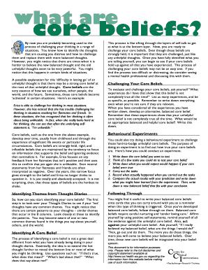 Cci core beliefs worksheet pdf