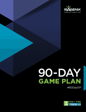isagenix 90 day plan printed form