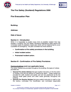 occupant emergency plan template - fire evacuation drill report template fill out print