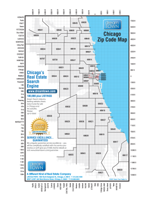 Fillable Online Chicago Zip Code Map Map of Chicago Zip Codes Fax
