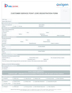 Rbl Bank Csp Registration Fill Online Printable Fillable Blank Pdffiller