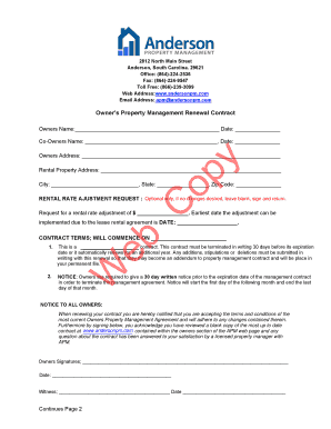 APM Owner Renewal Contract - Anderson Property Management