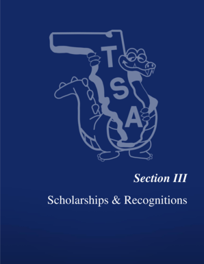 Section 3 - Scholarships amp Recognitions PDF - Florida TSA