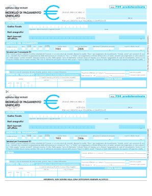 F24 compilabile pdf fill online printable fillable for Pagamento f24