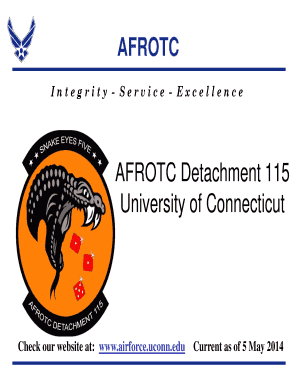 Fillable Online airforce uconn AFROTC Det 115 Program Overview (5 ...