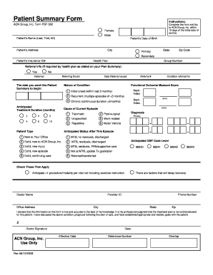 Fillable Online Patient Summary Form - Dr. Lawrence J. Suchoff Fax ...