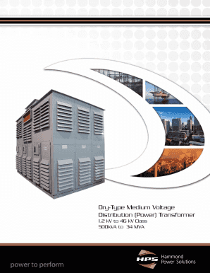 Dry-Type Medium Voltage Distribution (Power) Transformer Catalog