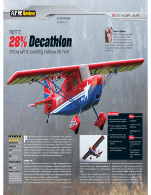 Fillable Online Pilot RC Decathlon - Chief Aircraft Inc  Fax Email