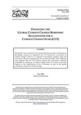 FINANCING THE GLOBAL CLIMATE CHANGE ... - South Centre