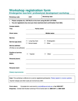 workshop template word