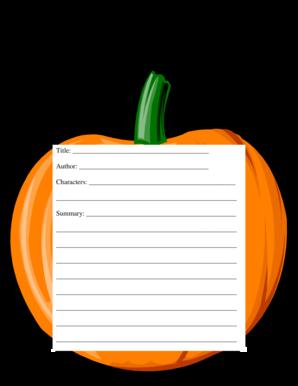 pumpkin book report template  Fillable Online Pumpkin Book Report Form Title Fax Email ...