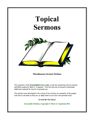 Textual Sermons Executable Outlines - Fill Online, Printable