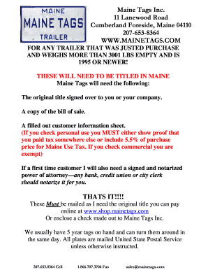 maine motor vehicle registration