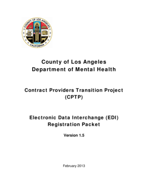 Fillable Online Dmh Lacounty County Of Los Angeles Department Of