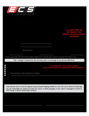 Ecs Tunning - Fill Online, Printable, Fillable, Blank