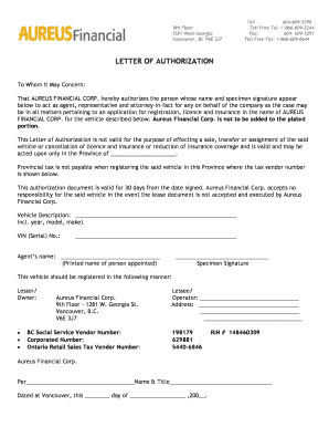 Printable letter of authorization to act on behalf of a company letter of authorizationc altavistaventures Gallery