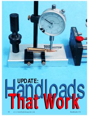 Fillable Online HANDLOADS THAT WORK PDF - LoadData com Fax