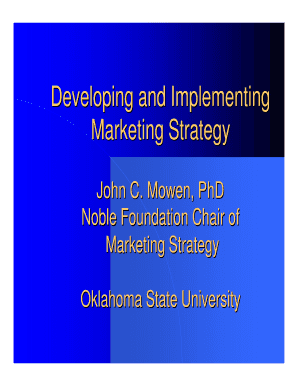 Developing and Implementing Marketing Strategy - IGSHPA - igshpa okstate
