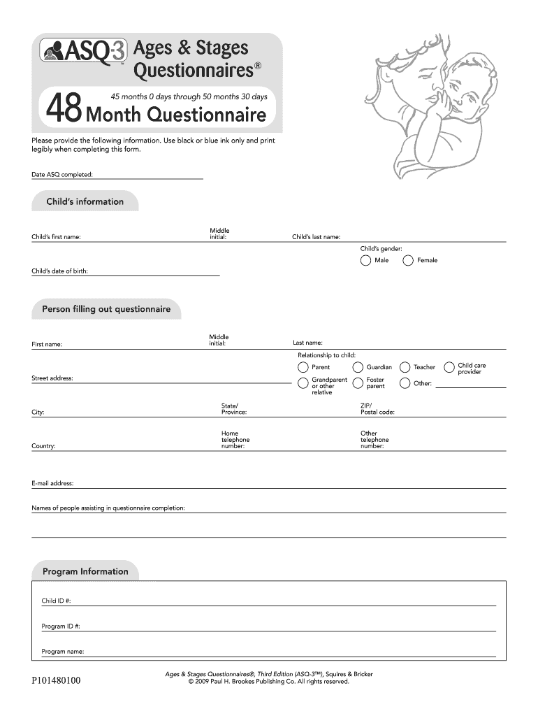 Ages And Stages Questionnaire Pdf Fill Online Printable Fillable Blank Pdffiller