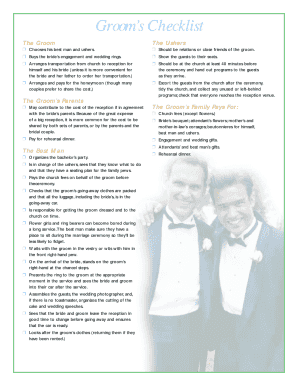 printable groom speech checklist fill out download online blanks