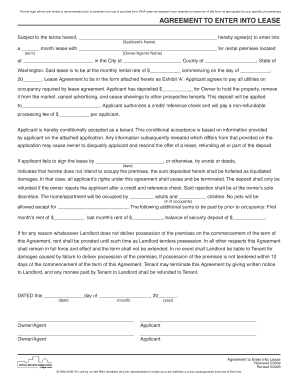 Printable Rha Wa State Lease Agreement Fill Out Download